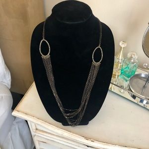 Crystal Pave links & chain necklace